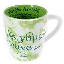 as you leave green mug