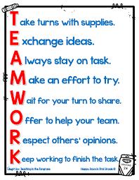 Teamwork Acronym To Help Build A Classroom Of Team Players