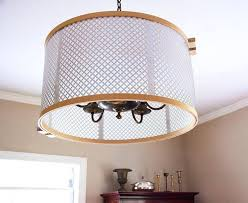 chandelier drum shades knuckle salads drum shade is made from embroidery hoops and radiator grates