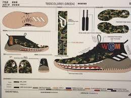 adidas dame 4. bape adidas dame 4 camo pack damian lillard footwear shark hoodie black camouflage green brown basketball