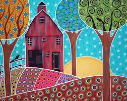 farm scene art lesson inspiration could use painted paper for this idea for younger