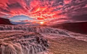 Check out this beautiful collection of clouds wallpapers, with 137+ background images. Beautiful Sunset River Rapids Stream Clouds Glow Red Sky Wallpaper Nature And Landscape Wallpaper Better