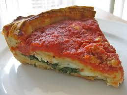 the small stuffed spinach pizza i ordered weighed over three pounds making every slice about half a pound prised mostly of cheese as far as i can