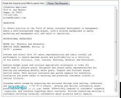 Resume Parsing Simple Parse Resume Resume Parsing Algorithm Igniteresumes Resume