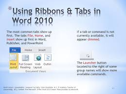 Ms Word Lesson Plans Microsoft Word 2010 Lesson 1 Word Lesson 1 Presentation Prepared By