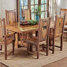 reclaimed wood trestle dining table 96 inch
