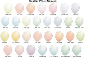 Qualatex Balloons Color Chart Custom Pastel Latex Balloon Colour Chart Party Shop Balloons