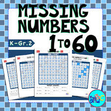 Hundreds Chart Missing Numbers 1 To 60 Worksheets By