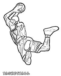 Small Picture Basketball Coloring Pages 12 Coloring Kids