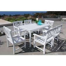 patio dining: bradley  piece table arm chair outdoor dining set