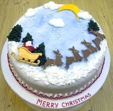 Square Christmas Cake Icing Ideas Awesome Decorating Family Guide