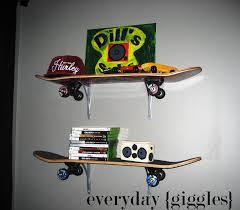 Skateboard Bedroom Skateboard Shelves Everyday Giggles