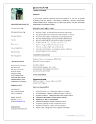 Resume Format For Accountant And Finance Resume Samples Resume