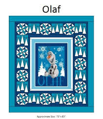 Panel Quilt Patterns Classy Olaf Panel Quilt Pattern 48
