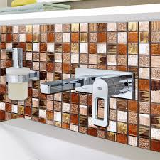 Mosaikfliesen Naturstein Ornament Beige Orange - HT88469