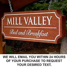Wood Address Signs Outdoor Decor Amazon Custom Carved wood sign Engrave a custom message or 44