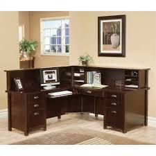martin furniture tribeca loft cherry lhf l shaped executive desk with reception hutch