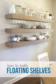 diy dining room decor ideas simple floating shelves in your dining room cool diy
