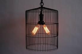 black wire bird cage chandelier w brass ceiling canopy double socket cer