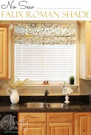 faux roman shade. No Sew Faux Roman Shade -that Can Actually Move And Drop To The Length Of V