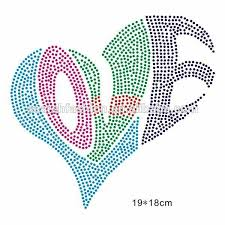 Rhinestone Patterns Cool Heart And Galaxy Hotfix Rhinestone Patterns In Motif Buy Hotfix