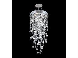 james r moder impact crystal rain silver six light 20 wide chandelier