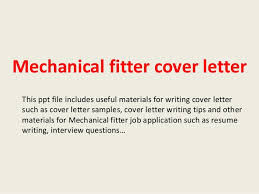 Cover Letter For Mechanical Fitter Position Salud
