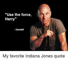 Indiana Jones Quotes Classy Use The Force Harry Gandalf My Favorite Indiana Jones Quote Funny