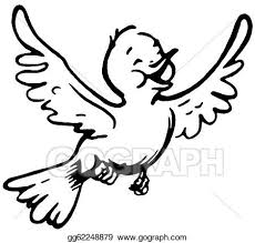 flying bird clipart black and white. Modren Clipart A Black And White Version Of A Happy Looking Bird Flying To Flying Bird Clipart Black And White D