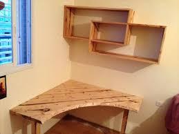 diy pallet desk with art style shelves beautiful diy shelf desk