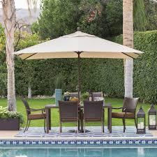 c coast 8 x 11 ft aluminum rectangle patio umbrella throughout 12 umbrella patio