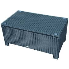 outsunny black rattan coffee table