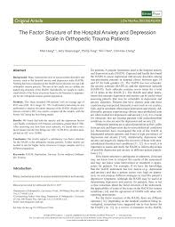 University Of Utah Hospital Org Chart Pdf The Factor Structure Of The Hospital Anxiety And