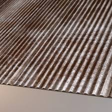 corrugated sheet metal royalty free 3d model preview no 1