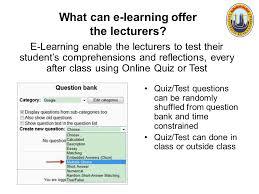 zaipul anwar e learning awareness unikl mitec zaipul anwar ppt what can e learning offer the lecturers