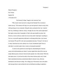 position sample essay electoral college writing teacher tools position sample essay
