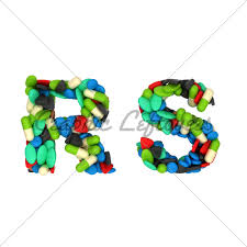 Pharmacy Font R And S Pills Letters · Gl Stock Images