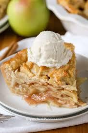 apple pie.  Pie Apple Pie A La Mode On Plate In Apple Pie T