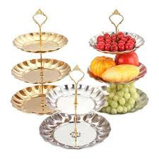 Display Stand For Plates 100 100 Tier Metal Cake Stand With Fruit Plate Candy Dish Circle Round 66