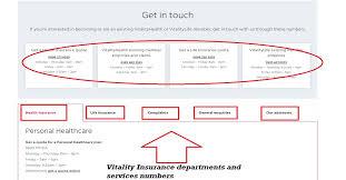 vitality insurance london address