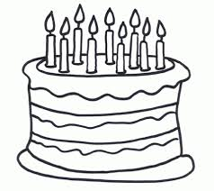 Small Picture cake coloring pages for wedding creamy cake its your birthday