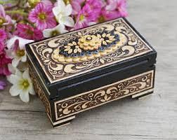 Decorative Ring Boxes Lidded ring box Etsy 57