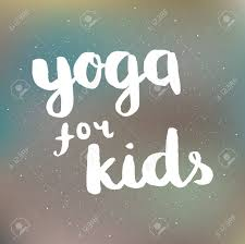 Poster With Quotes Lettering Yoga For Kids Fitness Typographic
