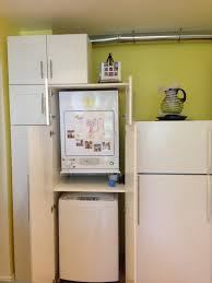 final result hiding stackable top load washer dryer in akurum high cabinet