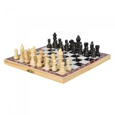 portable folding chess game set with wooden box free dealextreme