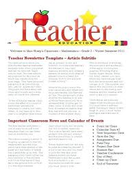 School Newsletter Template For Word Classroom Newsletter Template 9 Free Word Documents Inside High