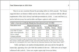 ama style for research papers ama stat  tables figures