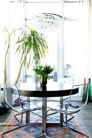 dining room chairs round tables chandelier eclectic with table clear arrangements houzz chandeliers modern