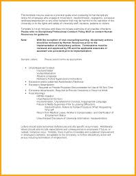 Employee Warning Letter Templates Word Excel Format For Unauthorized
