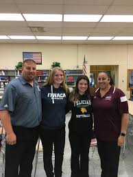 high school softball players their parents and coaches a look nutley coaches mike dipiano and luann zullo congratulated emily holden second from left and breana demaio on their college choices